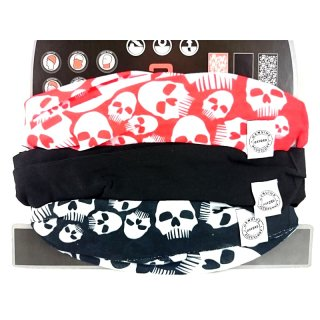 OXFORD COMFY Skulls Totenkopf 3er Set Multi Funktionstücher