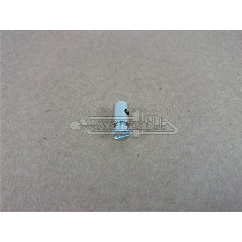 schraubnippel mit 6 kant schraube 9 mm 2 5 mm bohrung schaft 6 mm 1 75. Black Bedroom Furniture Sets. Home Design Ideas
